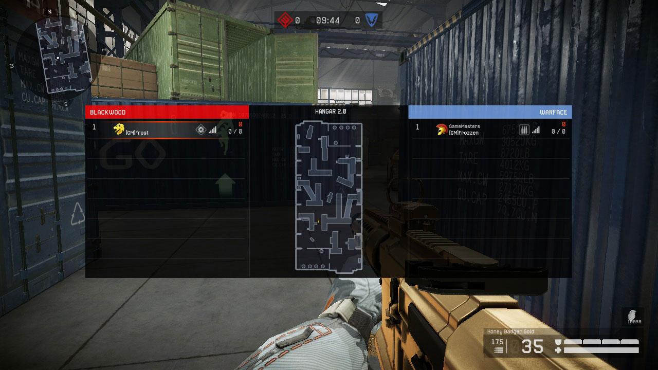 Interface do modo PVP